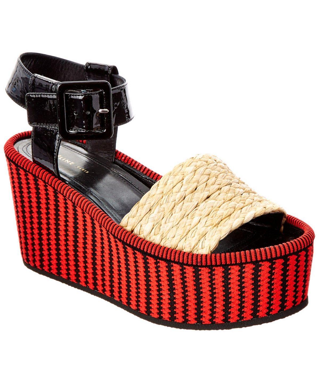 Celine Sandals In Red/black | ModeSens