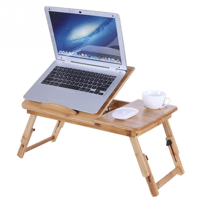Portable Folding Bamboo Laptop Table Sofa Bed Office Laptop Stand Tray Desk Bed Table For Computer Notebook Books China