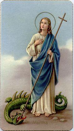 St. Martha | Saint martha, Saints and sinners, Novena