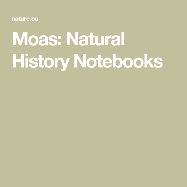 Photo of Moas: Natural History Notebooks