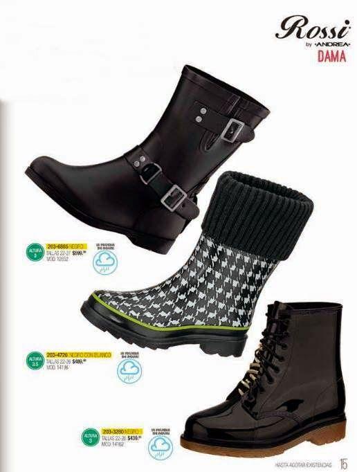Botas de Agua de la marca Rossy by Andrea. 3 modelos de botas de agua