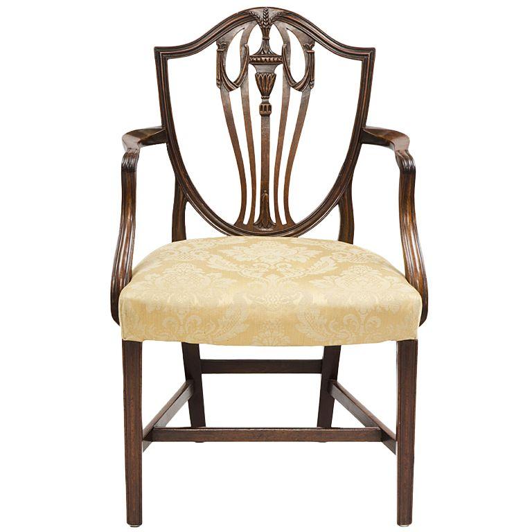 English Hepplewhite Period Armchair England Circa 1790 Hepplewhite