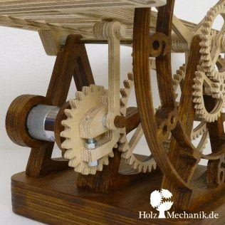 Electromechanical Wooden Rolling Ball Clock Serpina From Christopher Blasius Wooden Gear Clock Wooden Clock Wood Clocks