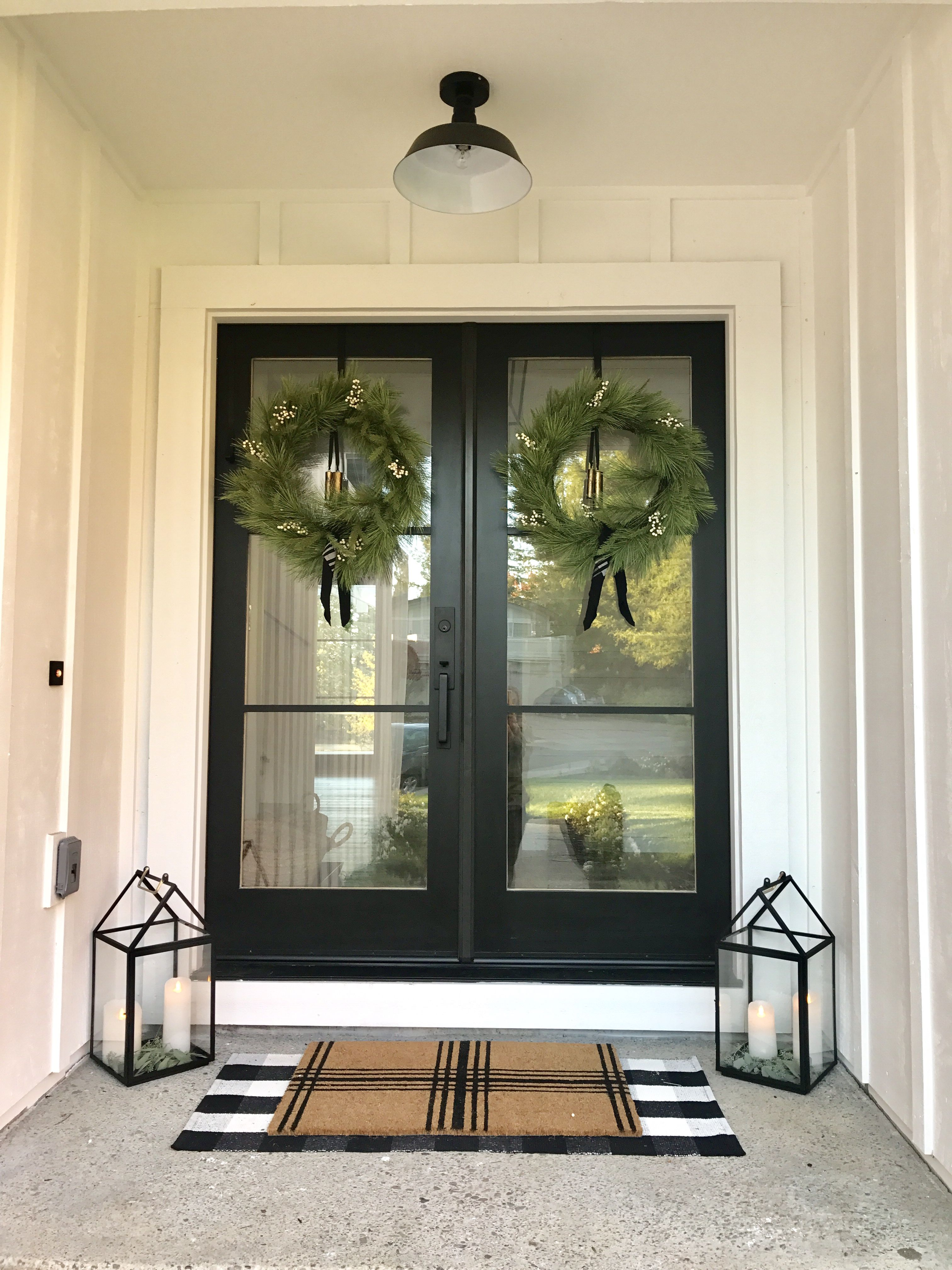 Holiday Porch With Magnolia Hearth And Hand Pieces House Front Door House Exterior Home