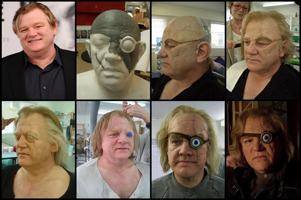 Transformation Of Actor Brendan Gleeson To Alastor Mad Eye Moody Via Silicone Prosthetic Makeup Created By Key Prosthetic Makeup Artist S Harry Filmes Potes