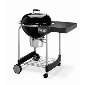 Weber Performer Silver 22 5 In Black Porcelain Enameled Kettle Charcoal Grill Charcoal Grill Weber Barbecue Grilling