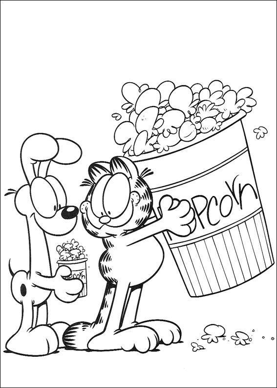 Tegninger Til Farvelaegning Garfield 6