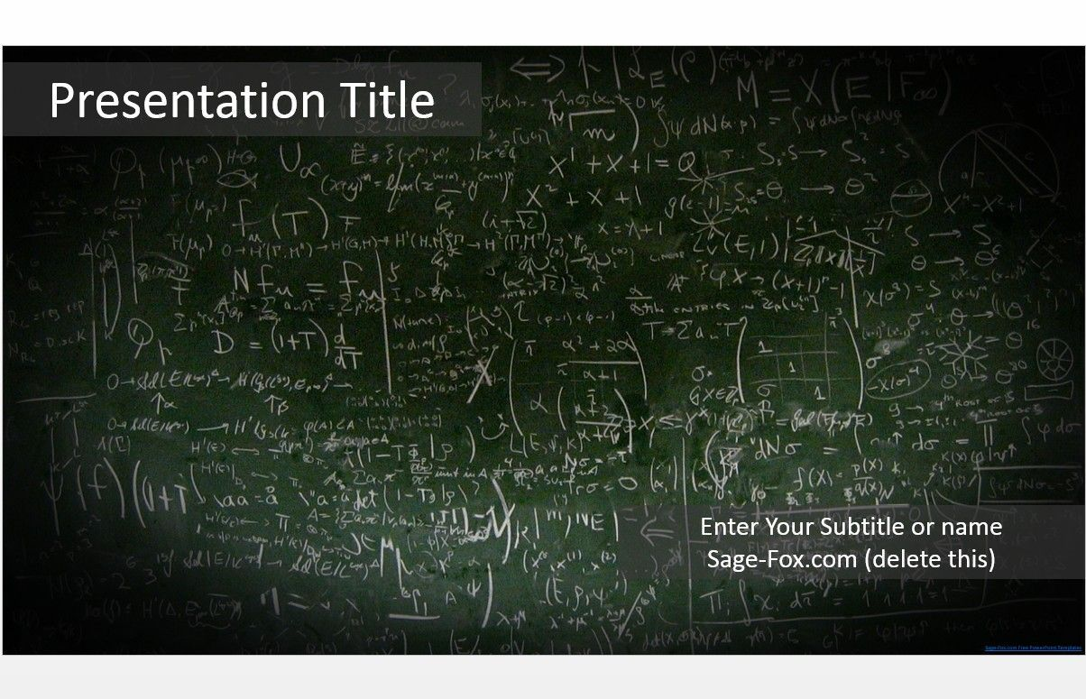 Free Math Powerpoint Templates Adjunct Faculty Pinterest Free