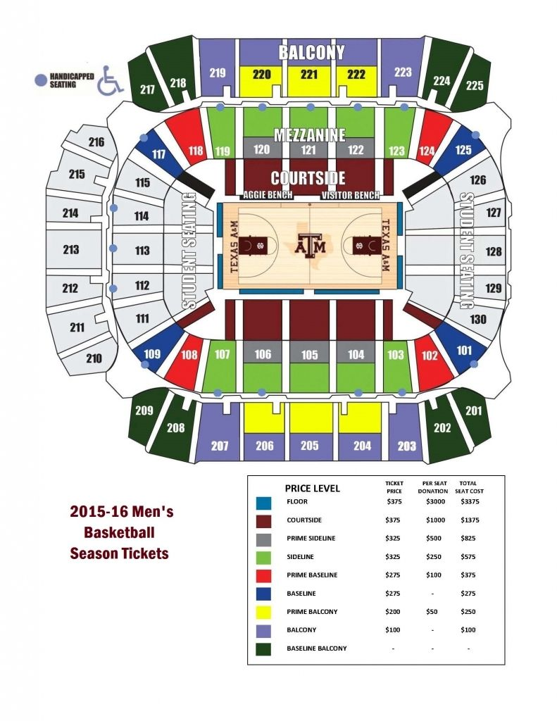 The Stylish As Well As Stunning Reed Arena Seating Chart Di 2020