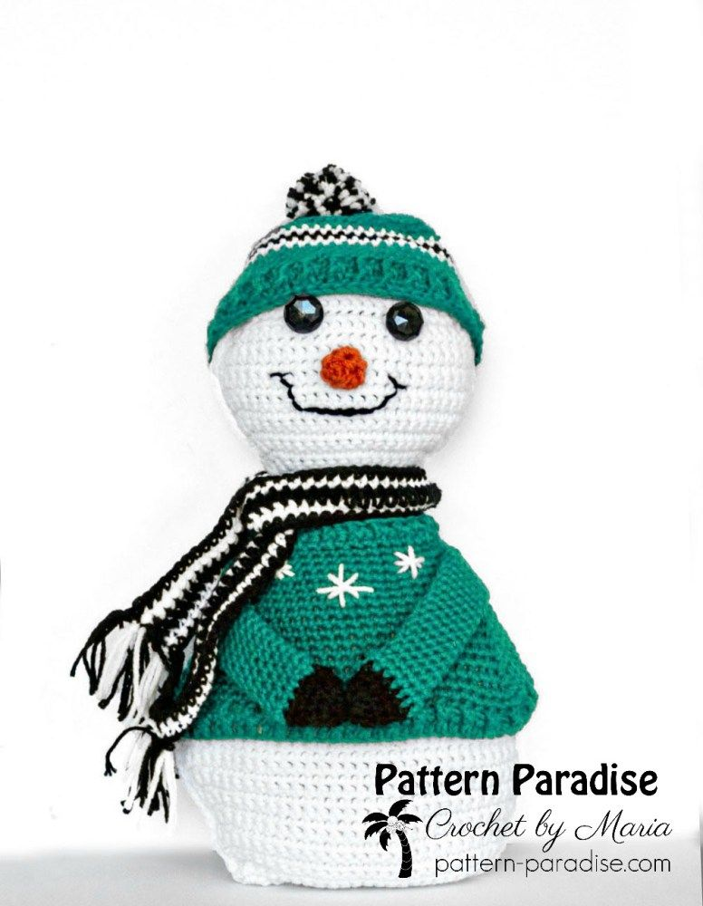 Free Crochet Pattern: Sparkles The Snowman | Pinterest
