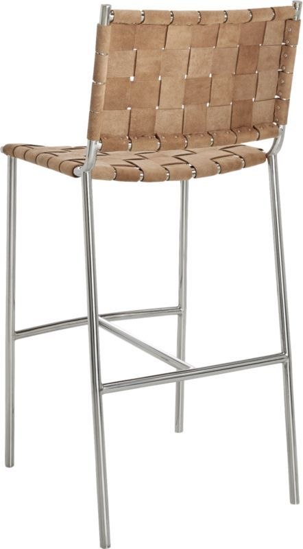 Miraculous Woven Brown Suede Bar Stool 30 In 2019 Counter Stools Gmtry Best Dining Table And Chair Ideas Images Gmtryco