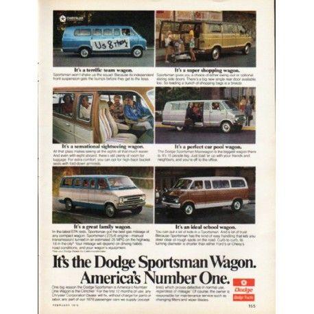 "1976 Dodge Ad ""Dodge Sportsman Wagon"" ~ (model year 1976)"