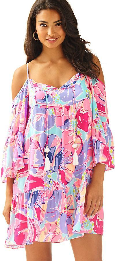 3a2b8a2565aba Lilly Pulitzer Alanna Off The Shoulder Dress Cute Summer Outfits