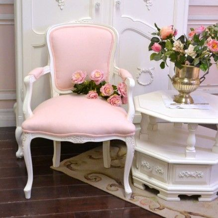 Single Pink Linen Armchair 295 00 Thebellacottage Pink Chic Chair Linen Ooak Shabby Chic Living Room Shabby Chic Furniture Shabby Chic Bedrooms
