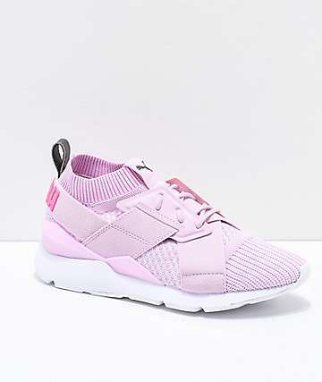 dd9593d7c6ad PUMA Muse Evoknit Winsome Orchid Pink   White Shoes ...
