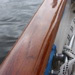 """""""Your teak looks great, why are you sanding?""""  Because the secret to keeping varnish looking great is never to wait until it looks like it needs attention! And no, it's not more work than Cetol, we've done both.  More here ... commuterCRUISER.com"""