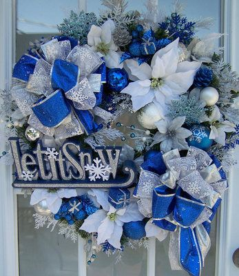 Let it snow Christmas wreath.