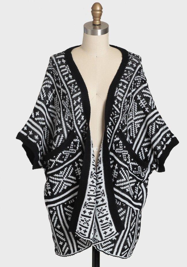 Aztec Empire Knit Cardigan Modern Vintage New Arrivals Wear