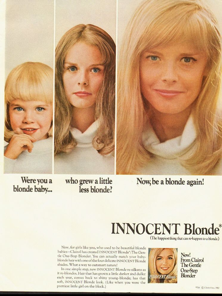 Works Great On Juries Funny Bad Retro Blonde Hair Color Ads