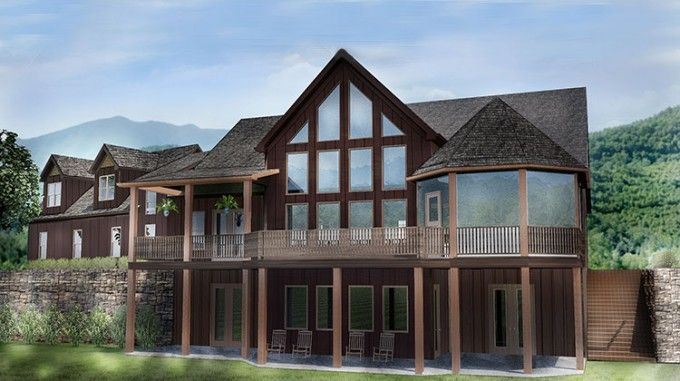 Open House Plan with 3 Car Garage | house udeas in 2019 ... on decks for mountain homes, fireplaces for mountain homes, open floor plans for beach homes, windows for mountain homes, covered parking for mountain homes, open floor plans for barn style homes,