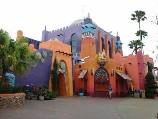 Sympathetically repainted ambience of the Pantopia Grill, BUSCH GARDENS, TAMPA BAY, FLORIDA.