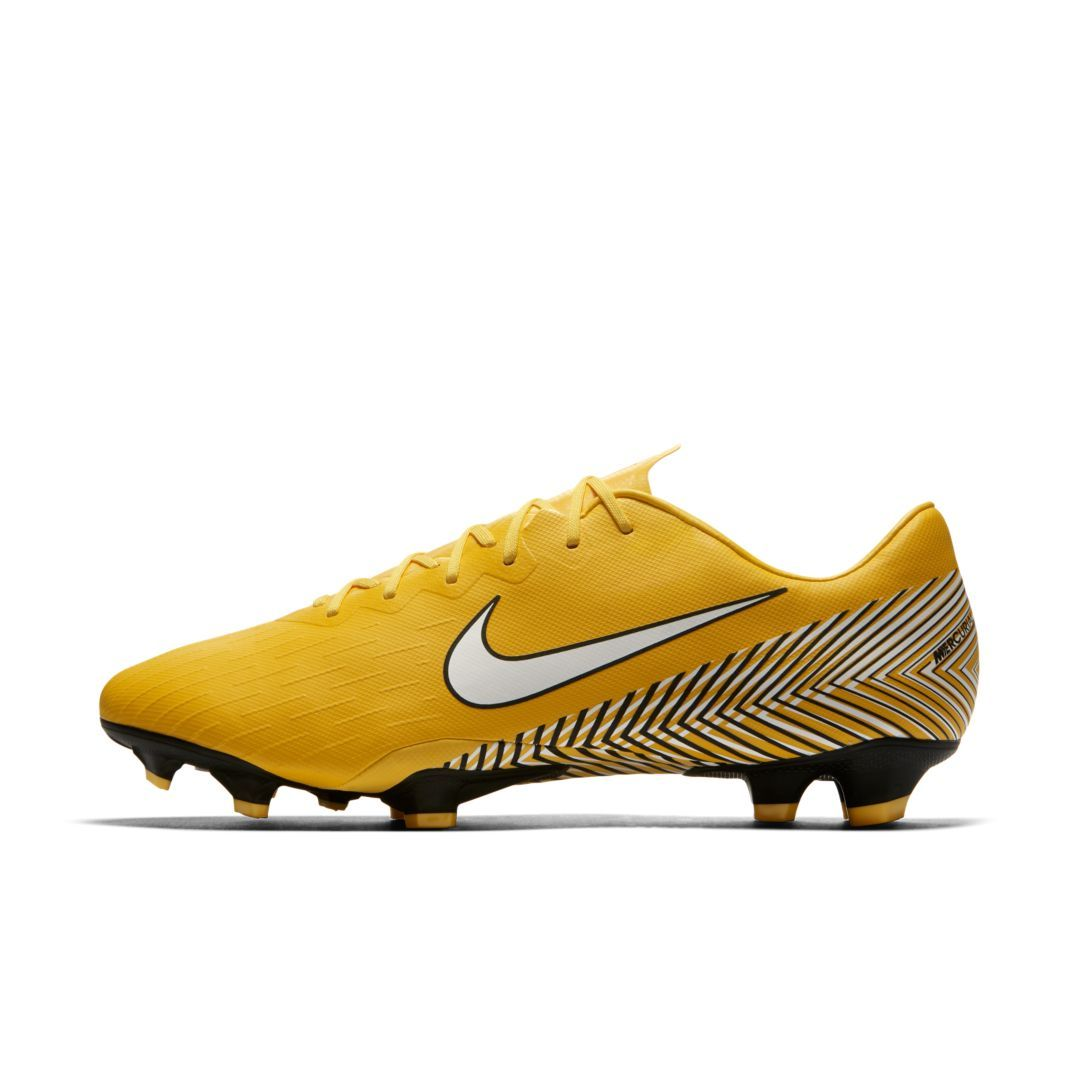 addd70e0d81 Nike Mercurial Vapor XII Pro Neymar Jr Men s Firm-Ground Soccer Cleat Size  10.5 (Amarillo)