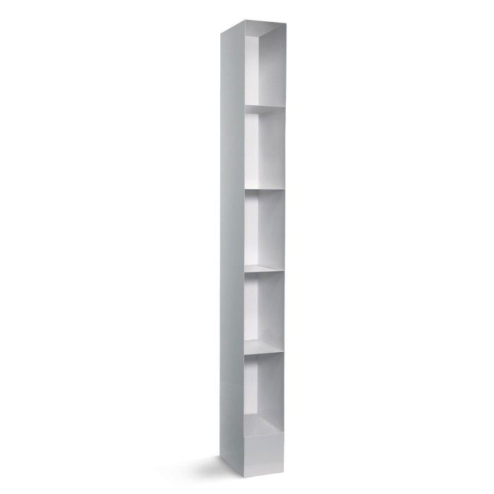 Totem Bookcase Is A Tall Narrow Bookcase Available In Simple Black Or White  Color Finishes. Modern Bookcase Crafted With Powder Coated Steel.