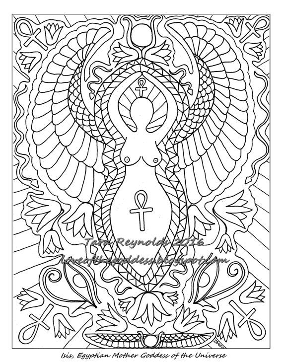 Coloring Pages for Adults, Goddess Coloring Page, Pagan Coloring ...