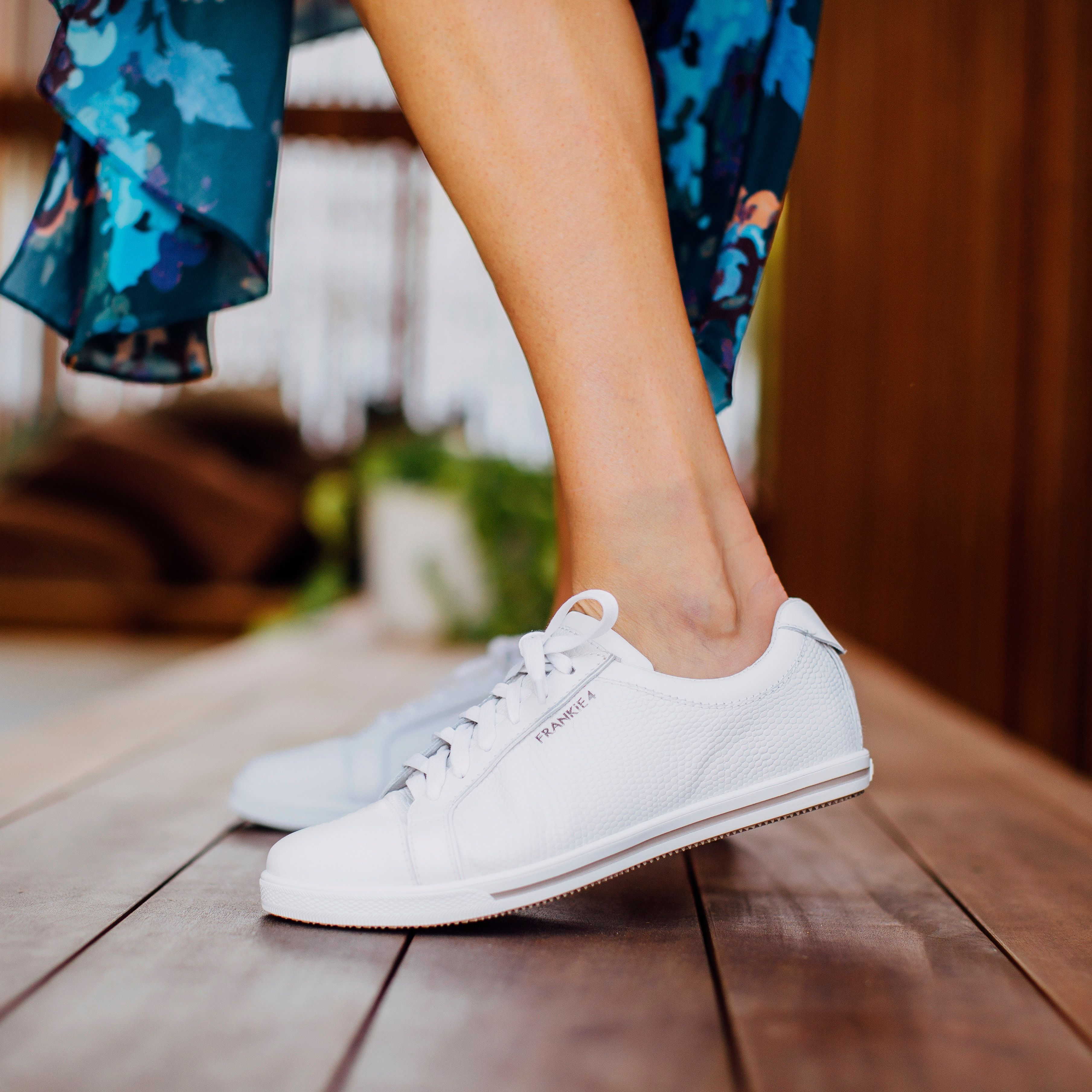 LUCY White Croc is our newest sneaker