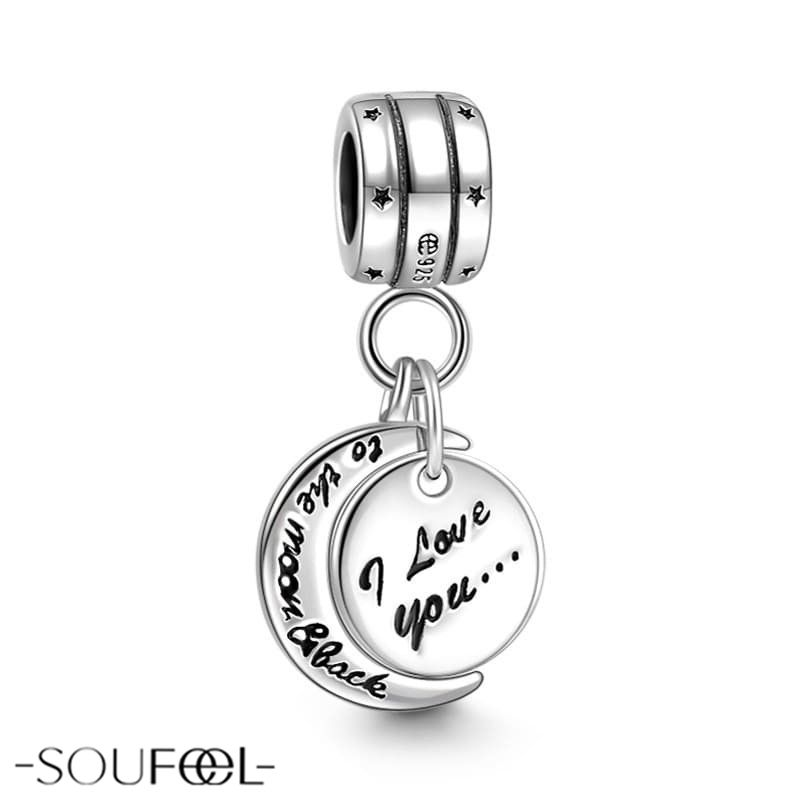 f0618089a I Love You to the Moon and Back Pendant. A good way to show how much you  love her/him. SOUFEEL jewelry, for every memorable day.