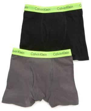 3ce0a6027367 Calvin Klein Boys' or Little Boys 2-Pack Boxer Briefs - Grey/Black ...