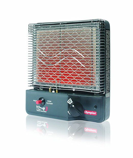 Olympian Wave 3 Lp Portable Gas Catalytic Heater By Camco 3000 Btu Can Warm Up To 130 Square Feet Of Space 57331 Camco Space Heater Heater