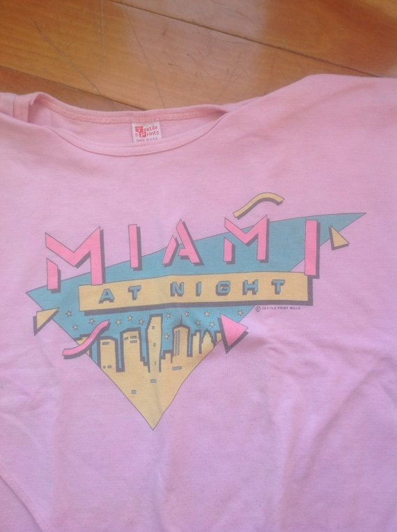 37e00e1ae Vintage 1980s Miami Cropped T-Shirt size M pink by historyofagirl ...