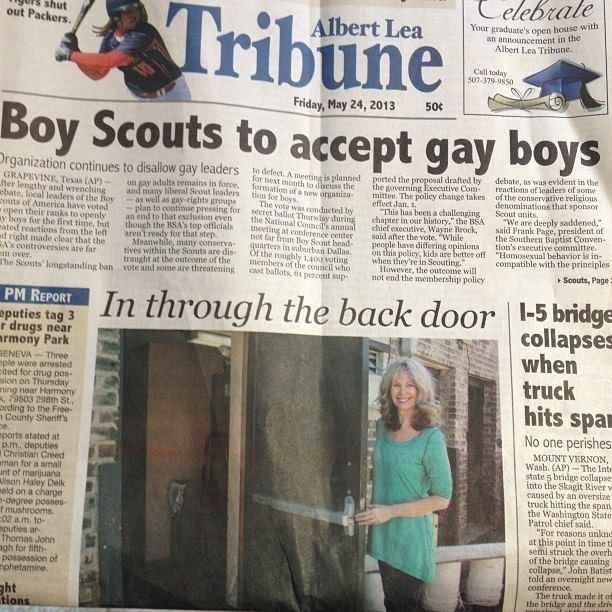 The Best Newspaper Headline Placement Ever