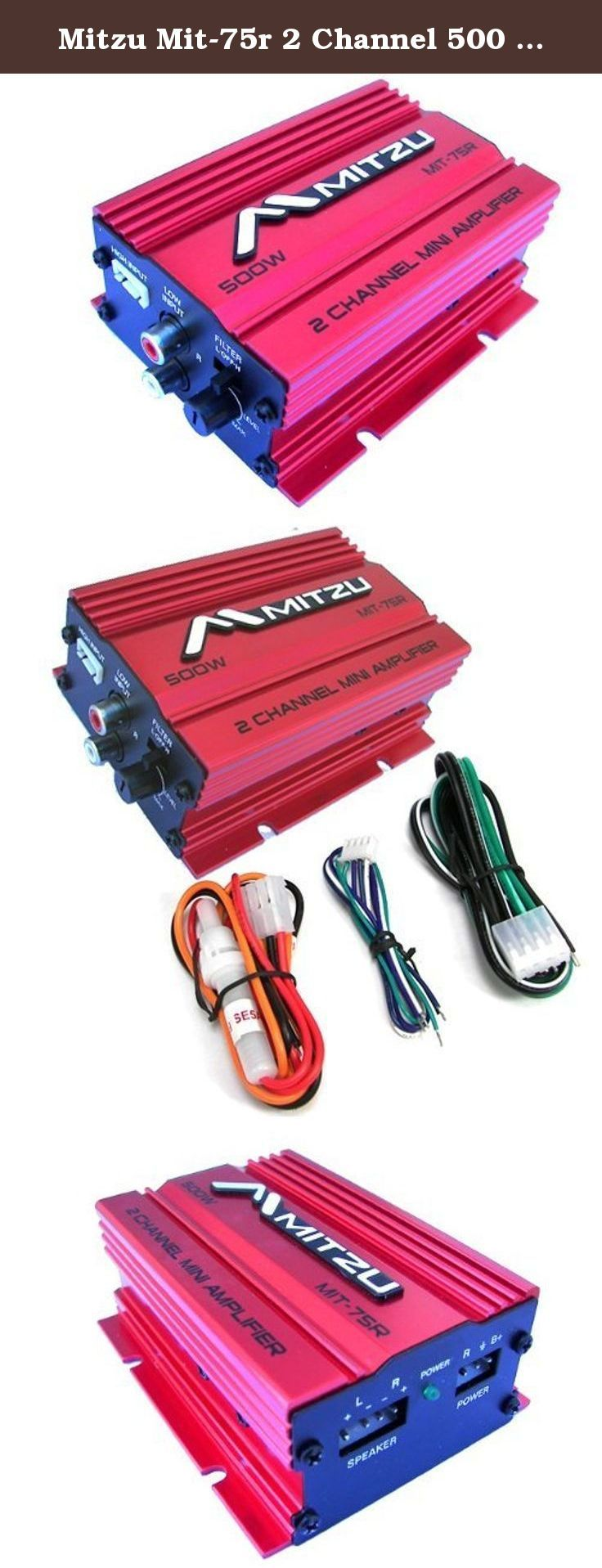 Mitzu Mit 75r 2 Channel 500 Watt Car And Motorcycle Audio Amplifier Wiring The Watts Is A Small That Able To