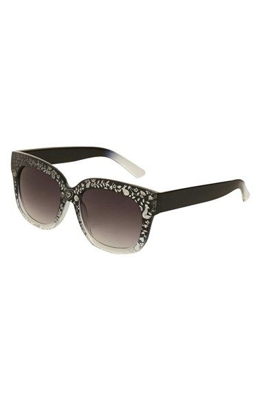 Topshop 51mm Laser Etched Sunglasses available at #Nordstrom