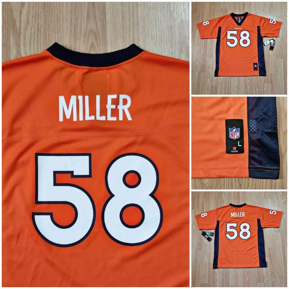 ... discount nwt denver broncos von miller official nfl orange home jersey  youth large 14 16 40.00 f012a0793