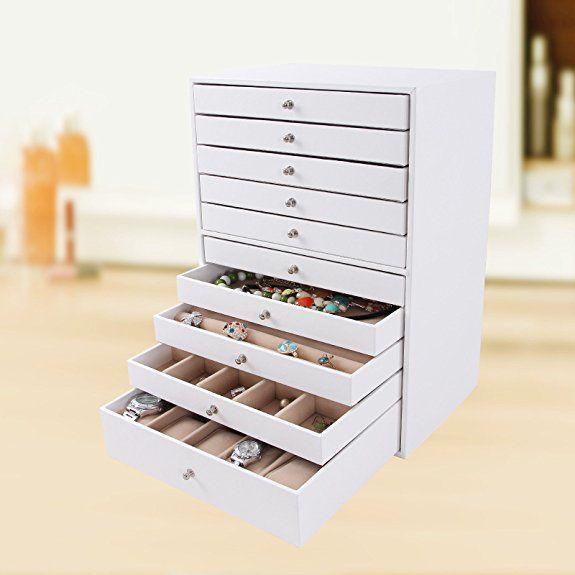 nouveau style Beau design magasins d'usine Songmics Boîte à bijoux Mallette coffrets boîte à maquillage ...
