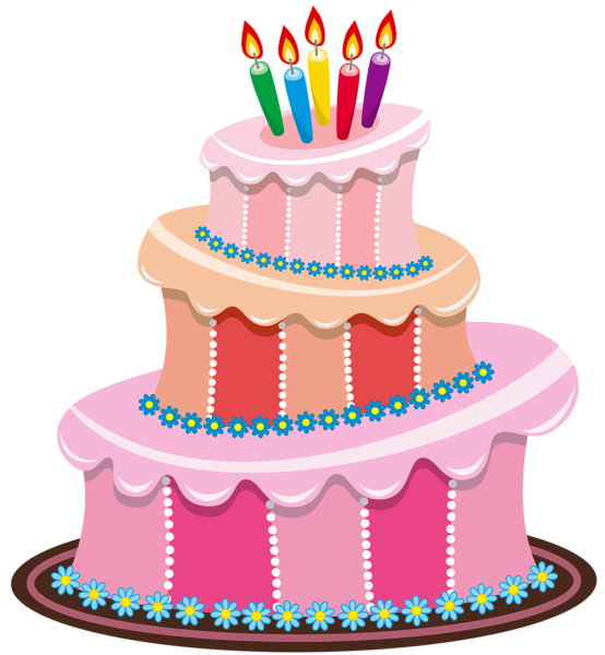 Excellent Pink Birthday Cake Png Clipart Bolos De Aniversario Bonitos Funny Birthday Cards Online Fluifree Goldxyz
