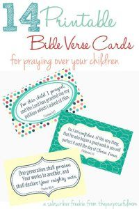 Printable Cards for Praying Over Your Children