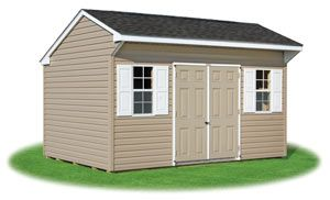 10x14 Vinyl Sided Cottage Style Storage Shed From Pine Creek Structures Shed Cottage Style Shed Storage