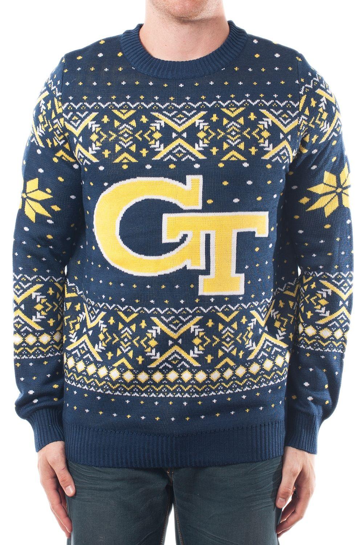 Men's College Christmas Sweater Tech. Go