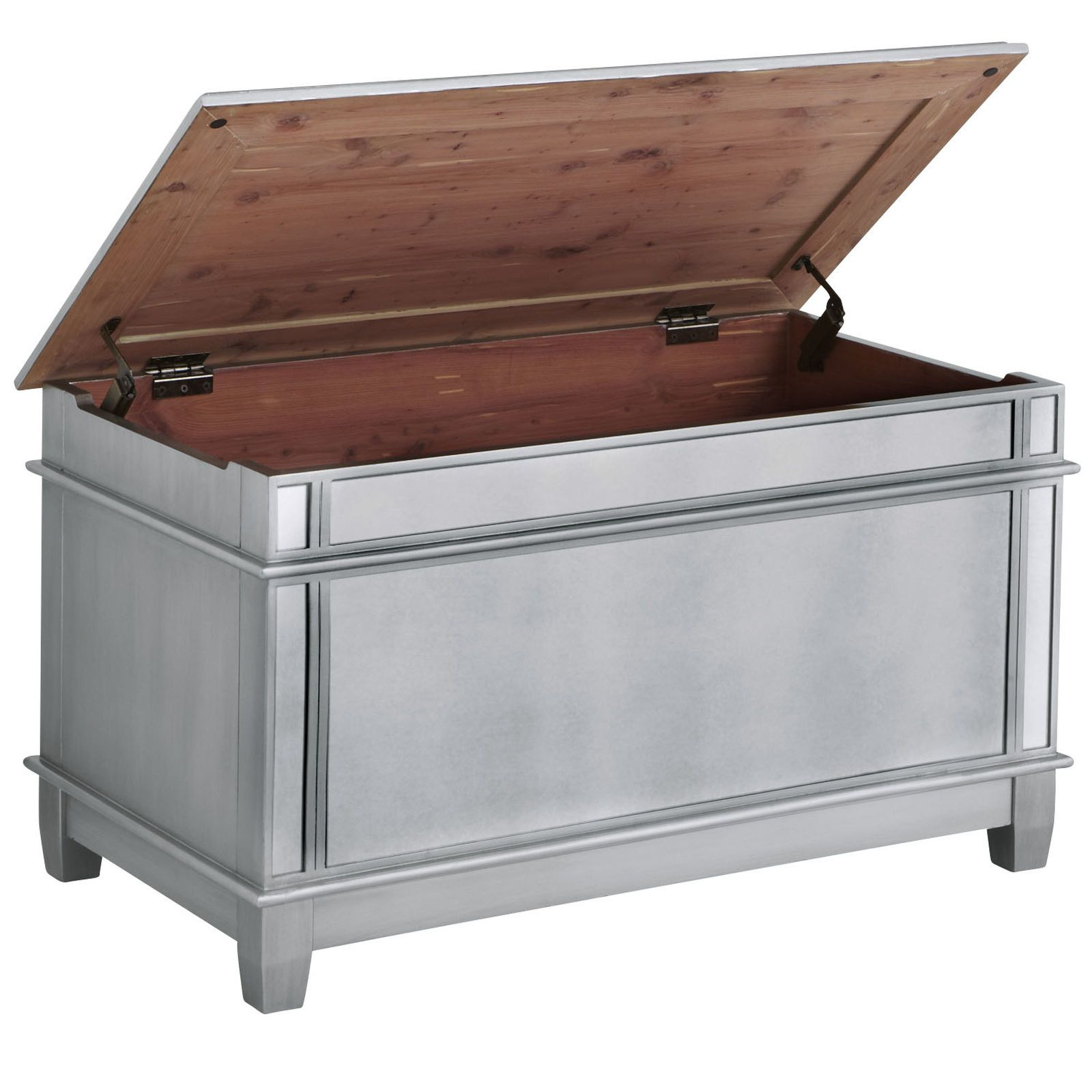 Mirrored Trunk Coffee Table Hayworth Mirrored Trunk Silver Pier 1 Imports Furniture To