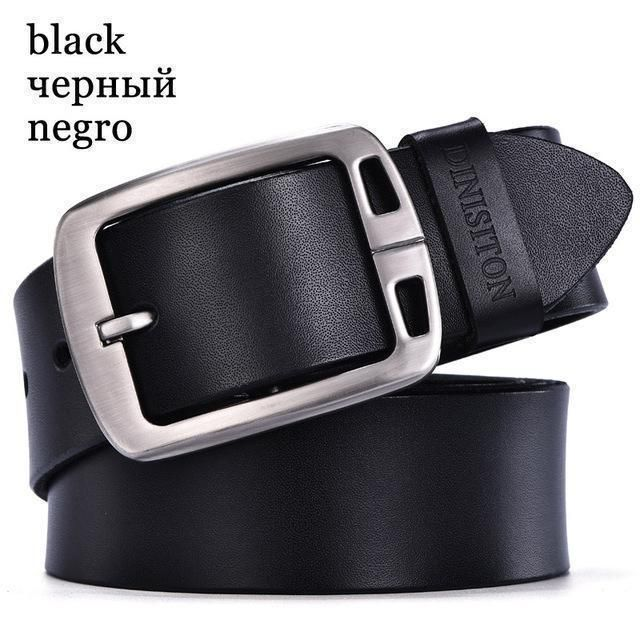 Genuine Cow Leather Luxury Belt Designer Buckle Belt RA