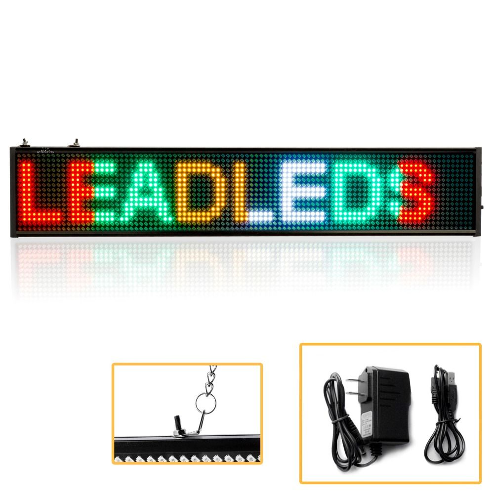 7 Color Opotional 110 220v Usb Programmable Message Sign Scrolling Moving Display Board For Store Business Led Signs Sign Lighting Led Sign Board