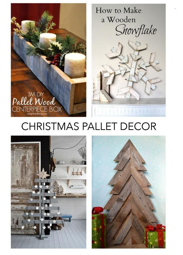 Love a good pallet project?  Here are 12 of my favorite Christmas pallet crafts from the inter webs 2014 Christmas Trends – Pallets