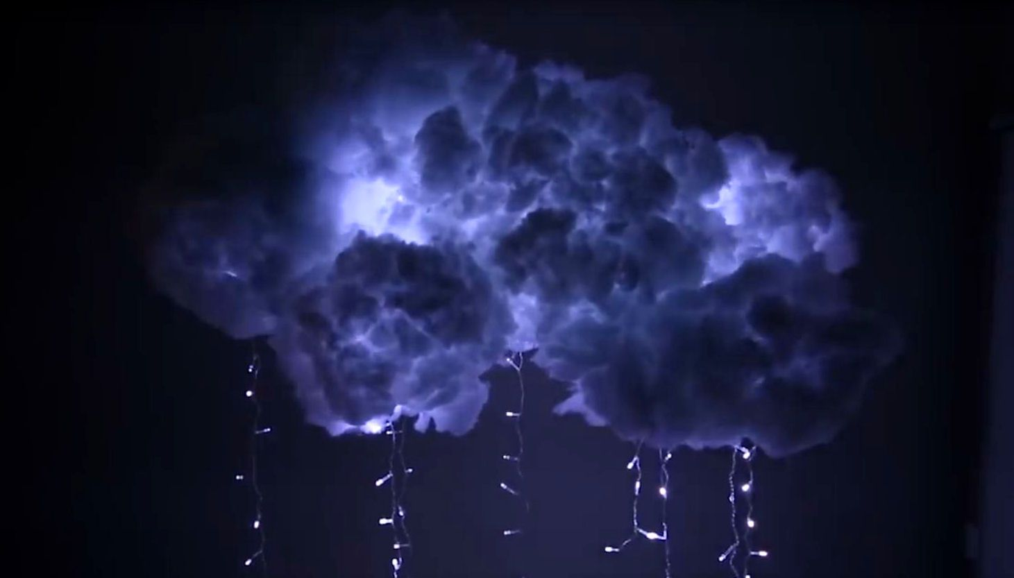 Diy project paper lantern cloud light thunder cloud