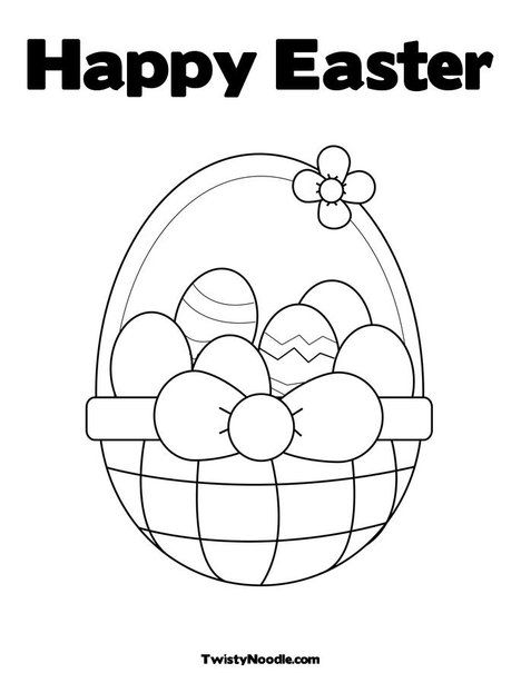 Happy Easter Coloring Page Easter Colors Easter Coloring Pages Easter Colouring