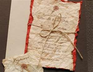 Image detail for -Paperie Tea Stained Burlap Vintage Invitation | Nashville Wedding ...