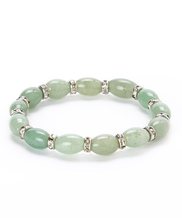 Another great find on #zulily! Green Aventurian Oval Stone Stretch Bracelet by Perry Borrelli III #zulilyfinds